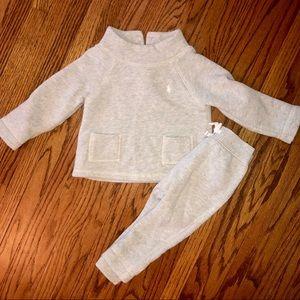 Ralph Lauren 12 Month Gray Sweat Suit